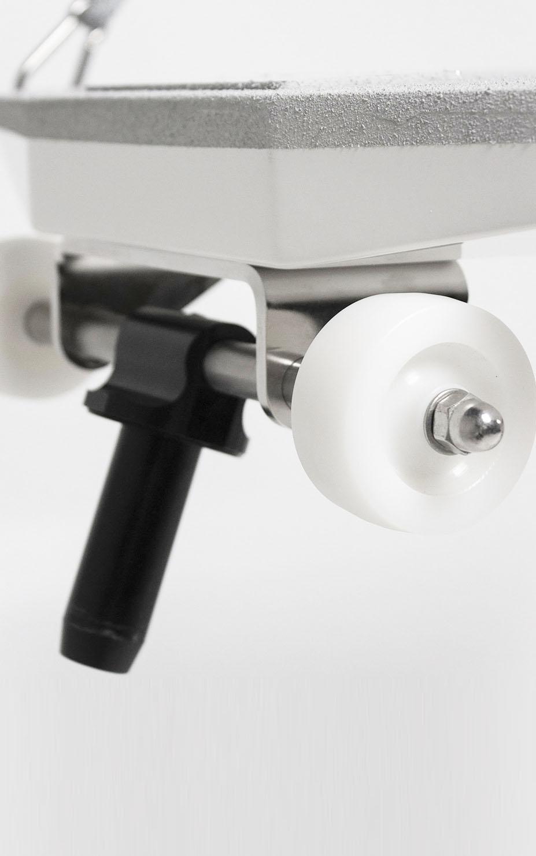 Stabilization wheels gangway